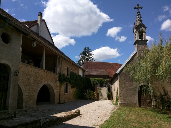 The side of the house and the chapel.