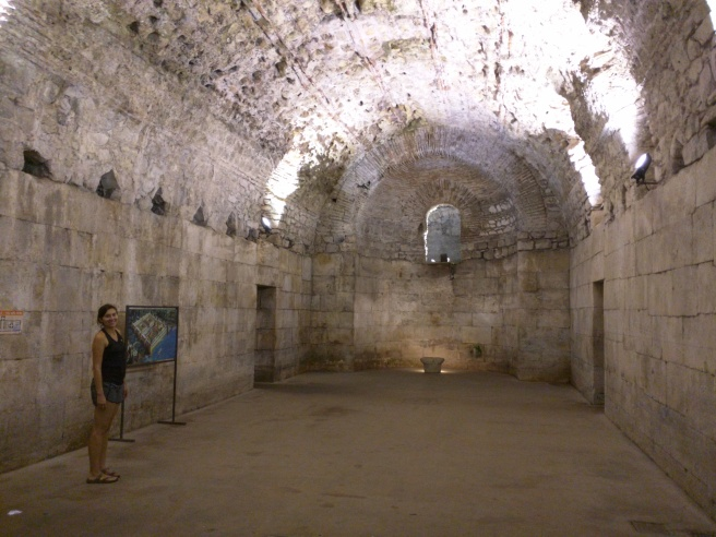 The only remaining original part of the palace is the formerly flooded basement.