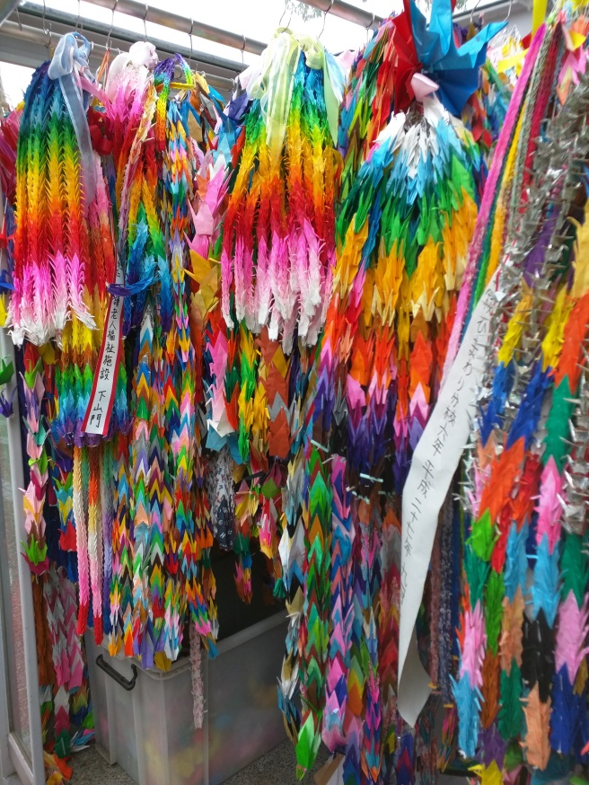 Millions of paper cranes are sent to Hiroshima every year.