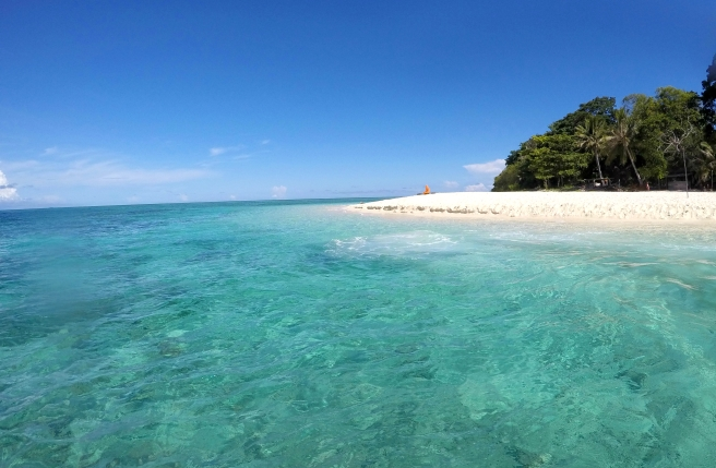 In between dives, you get to spend an hour relaxing on the beach, paradise!